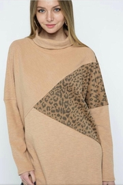 m2 Leopard Contrast Top - Front full body