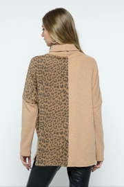 m2 Leopard Contrast Top - Side cropped