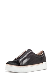 M4D3 Black Leather Sneaker - Front cropped