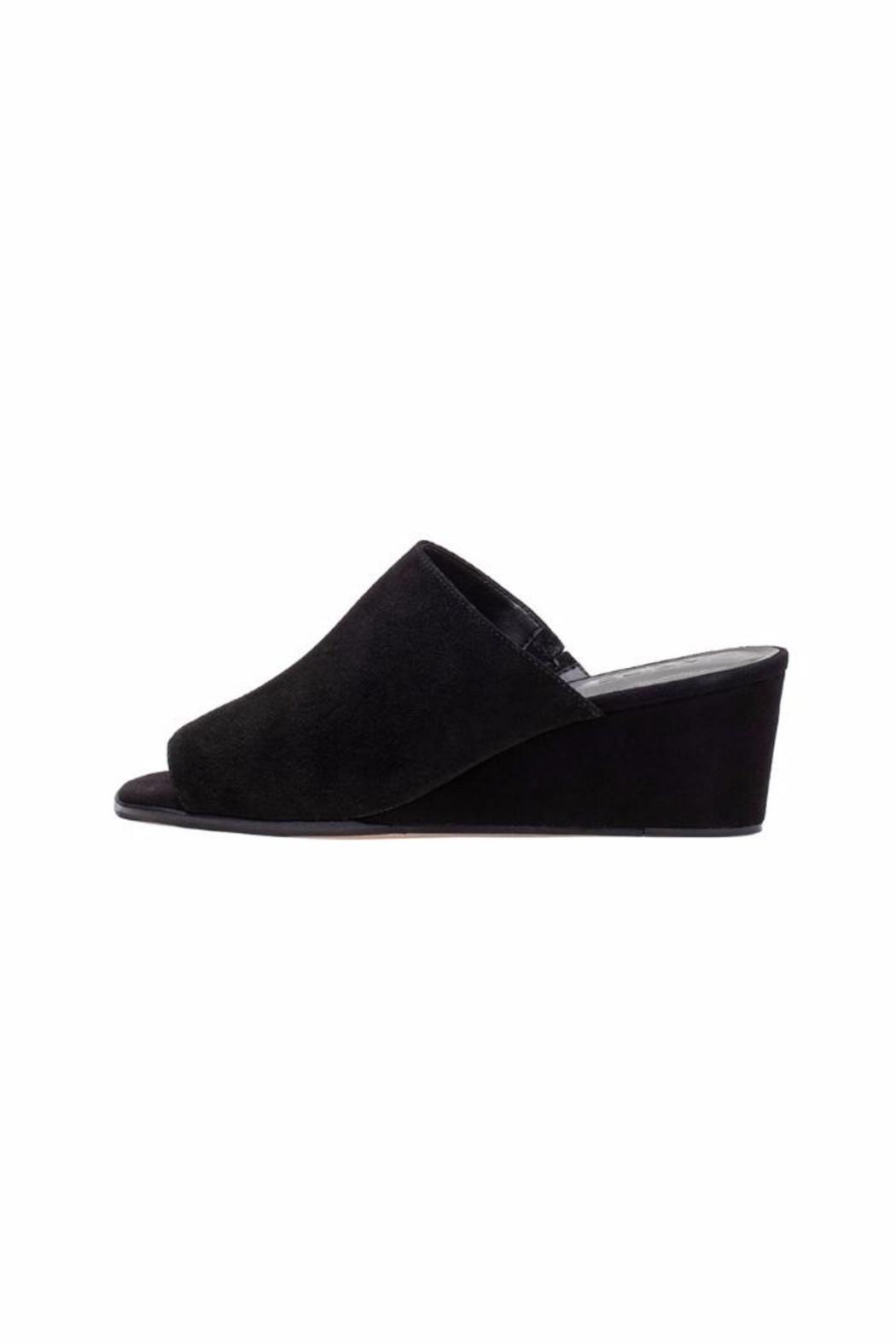M4D3 Clarah Black Wedges - Side Cropped Image