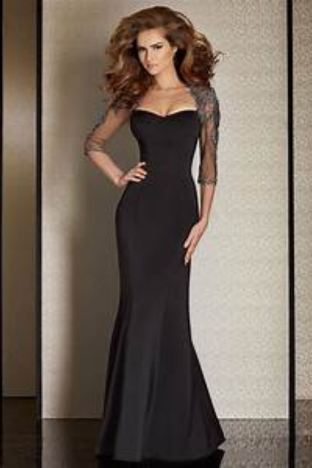 CLARISSE M6204 - long Dress - Front Cropped Image