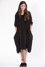 M made in Italy Black Duster - Front full body