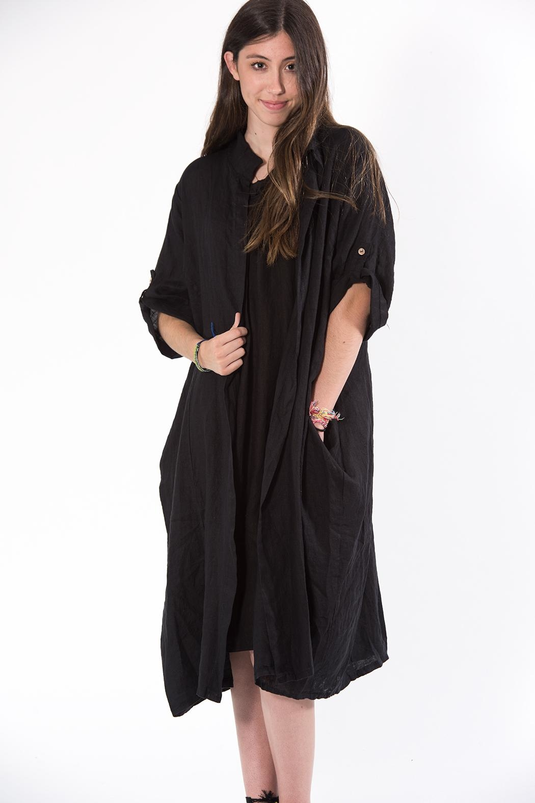 M made in Italy Black Duster - Main Image