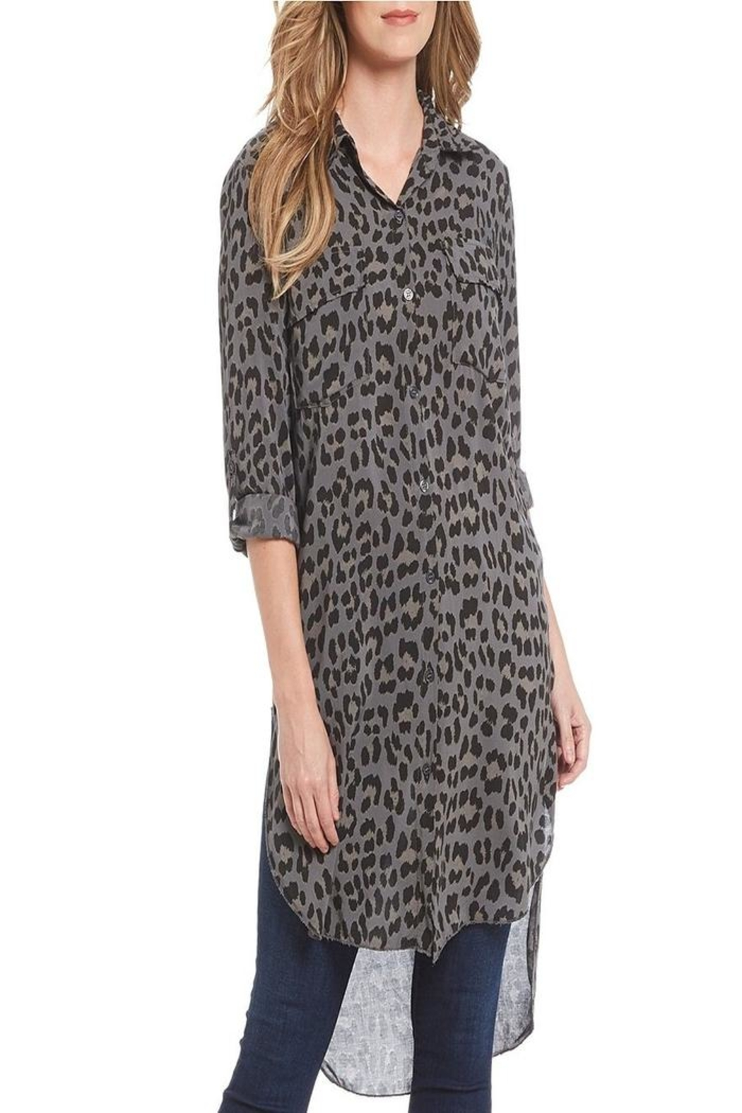 M made in Italy Leopard Tunic Shirt - Main Image