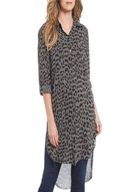 M made in Italy Leopard Tunic Shirt - Front cropped