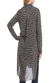 M made in Italy Leopard Tunic Shirt - Front full body