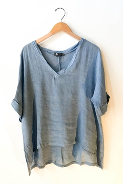 M made in Italy Loose Linen Pullover Top - Product List Image