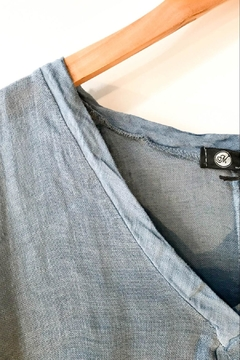 M made in Italy Loose Linen Pullover Top - Alternate List Image