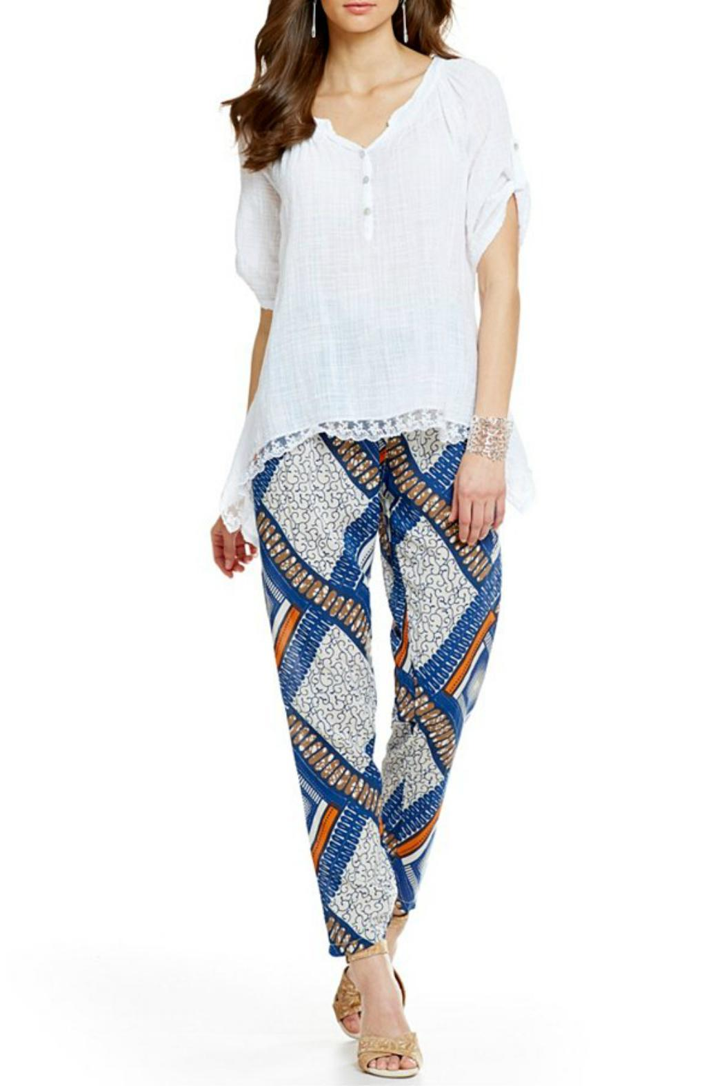 M Made In Italy Printed Pants From Canada By Envy Shoptiques