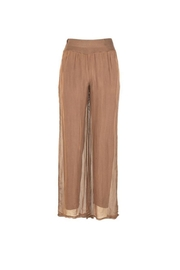 M made in Italy Silk Woven Pants - Product Mini Image