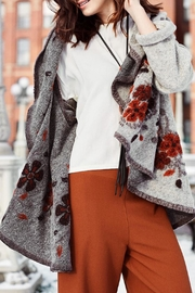 M made in Italy Wool Shawl Coat - Product Mini Image