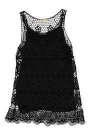M made in Italy Woven Lace Tank - Product Mini Image