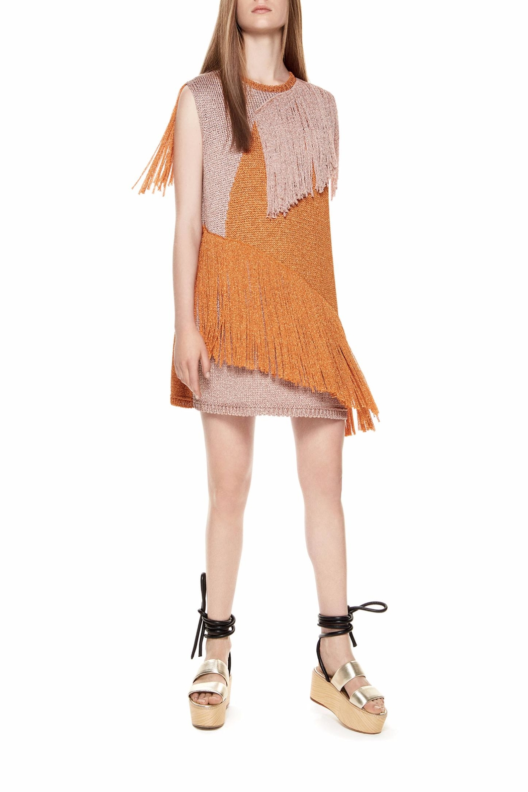 m missoni Fringe Lurex Dress - Front Cropped Image