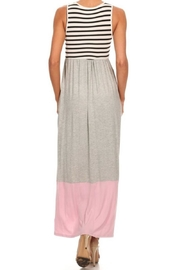 M USA Stripe/colorblock Jersey-Knit Maxidress - Front full body