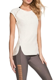 Maaji Cream Capsleeve Top - Product Mini Image