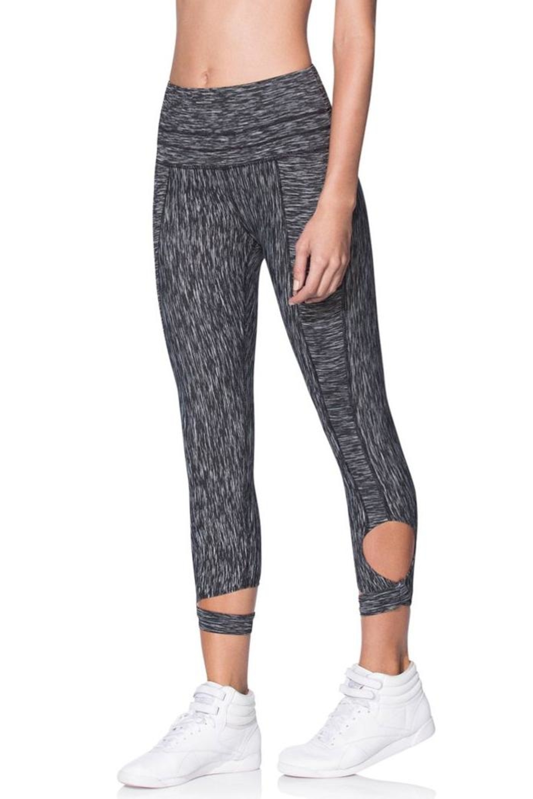 Maaji Wrap Capri Leggings - Side Cropped Image