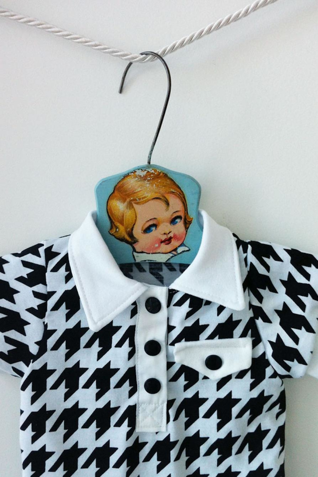 mabel Houndstooth Onesie - Front Full Image