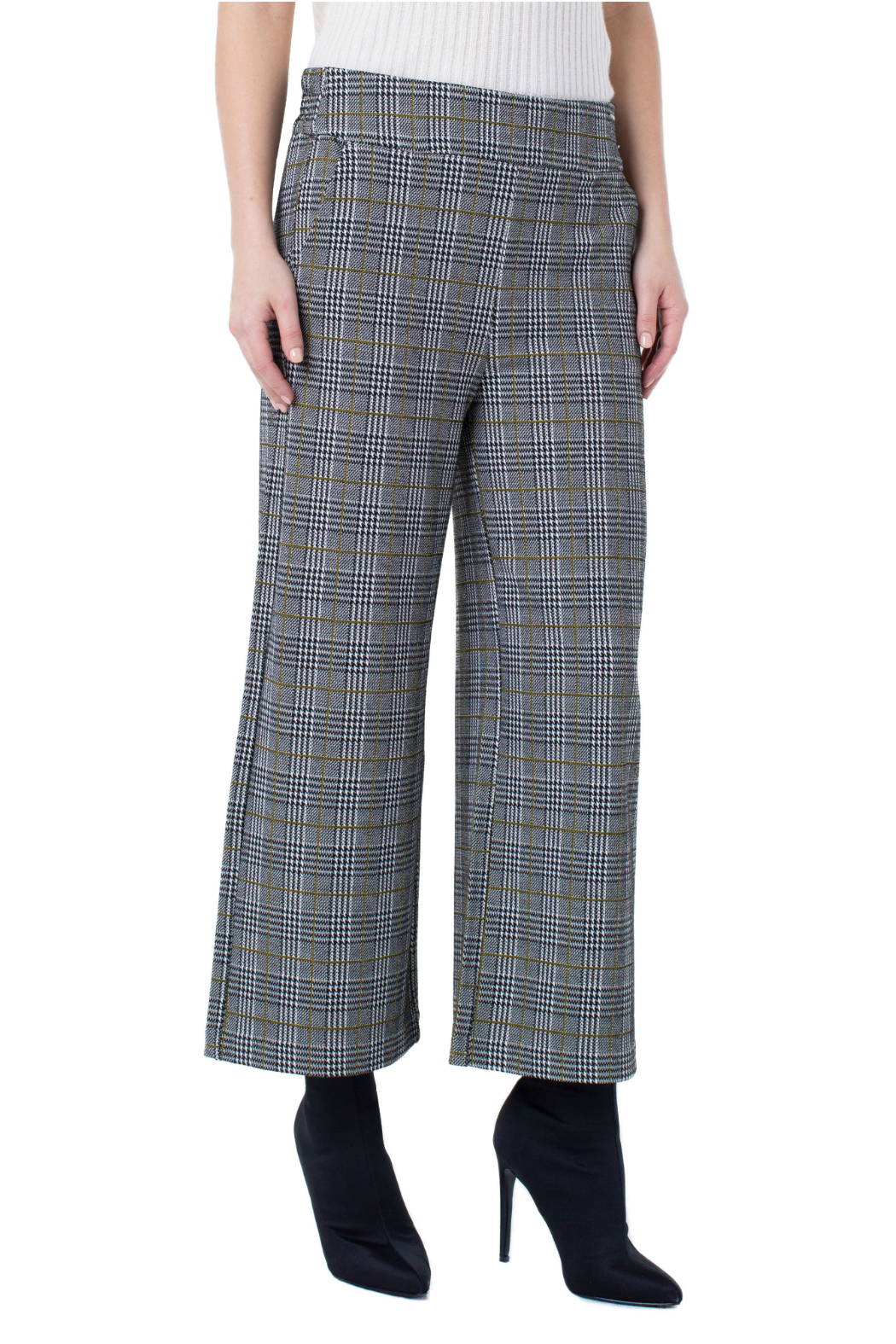 Liverpool Plaid Cropped Pants - Main Image