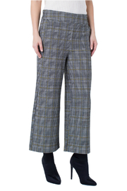 Liverpool Plaid Cropped Pants - Front cropped