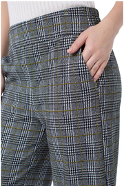 Liverpool Plaid Cropped Pants - Side cropped
