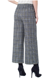 Liverpool Plaid Cropped Pants - Front full body