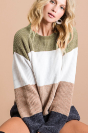 Macaron Mabel Striped Sweater - Product Mini Image