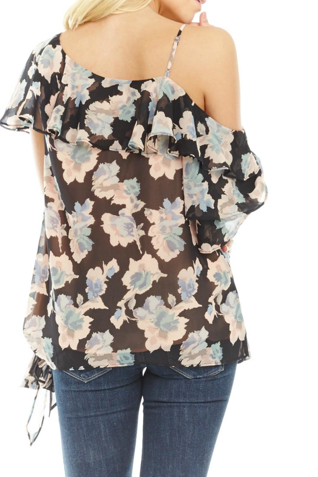 Mabel & Mary Moonlight One-Shoulder Top - Side Cropped Image