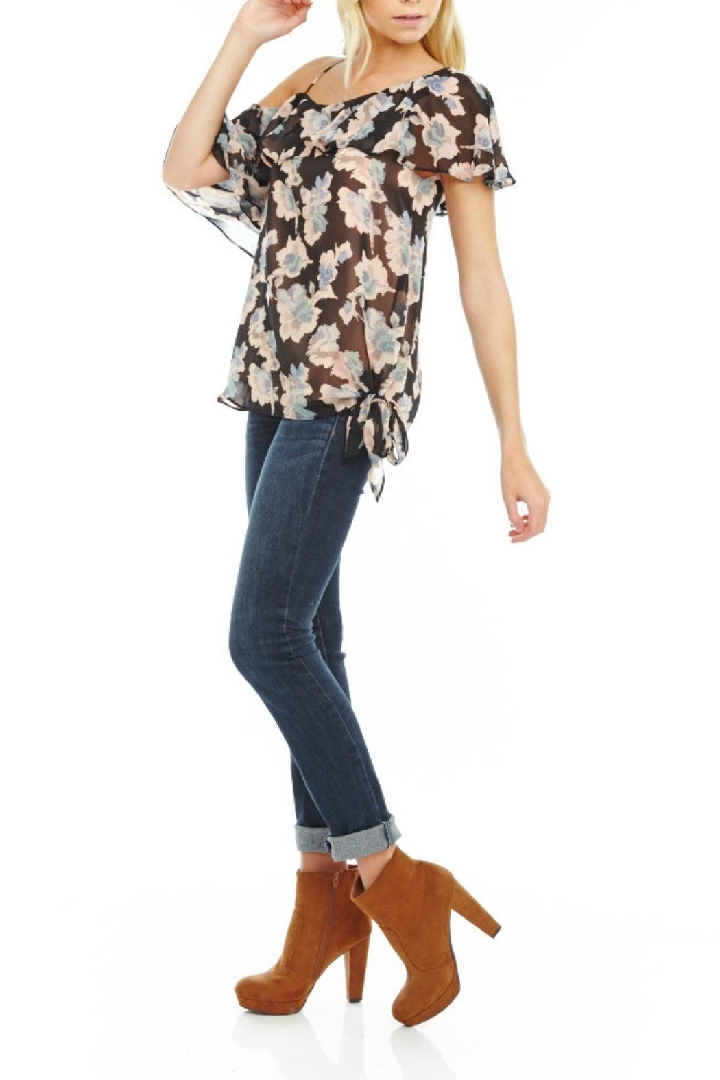 Mabel & Mary Moonlight One-Shoulder Top - Front Full Image