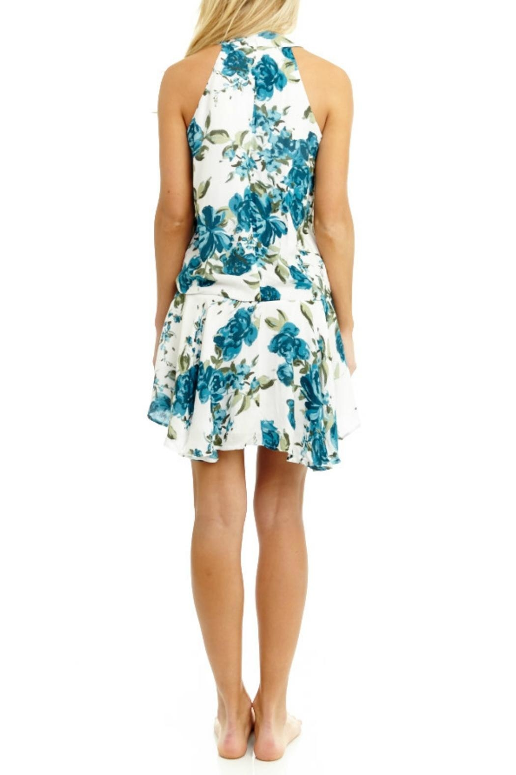 Mabel & Mary Viridity Floral Dress - Side Cropped Image