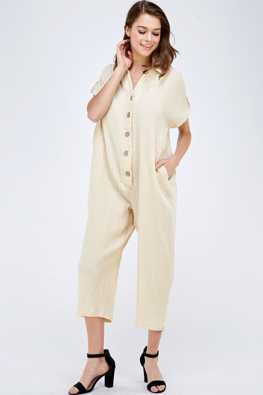 Mable Button Up Jumper - Front Full Image