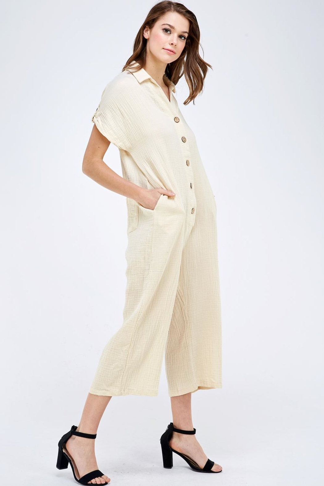 Mable Button Up Jumper - Side Cropped Image