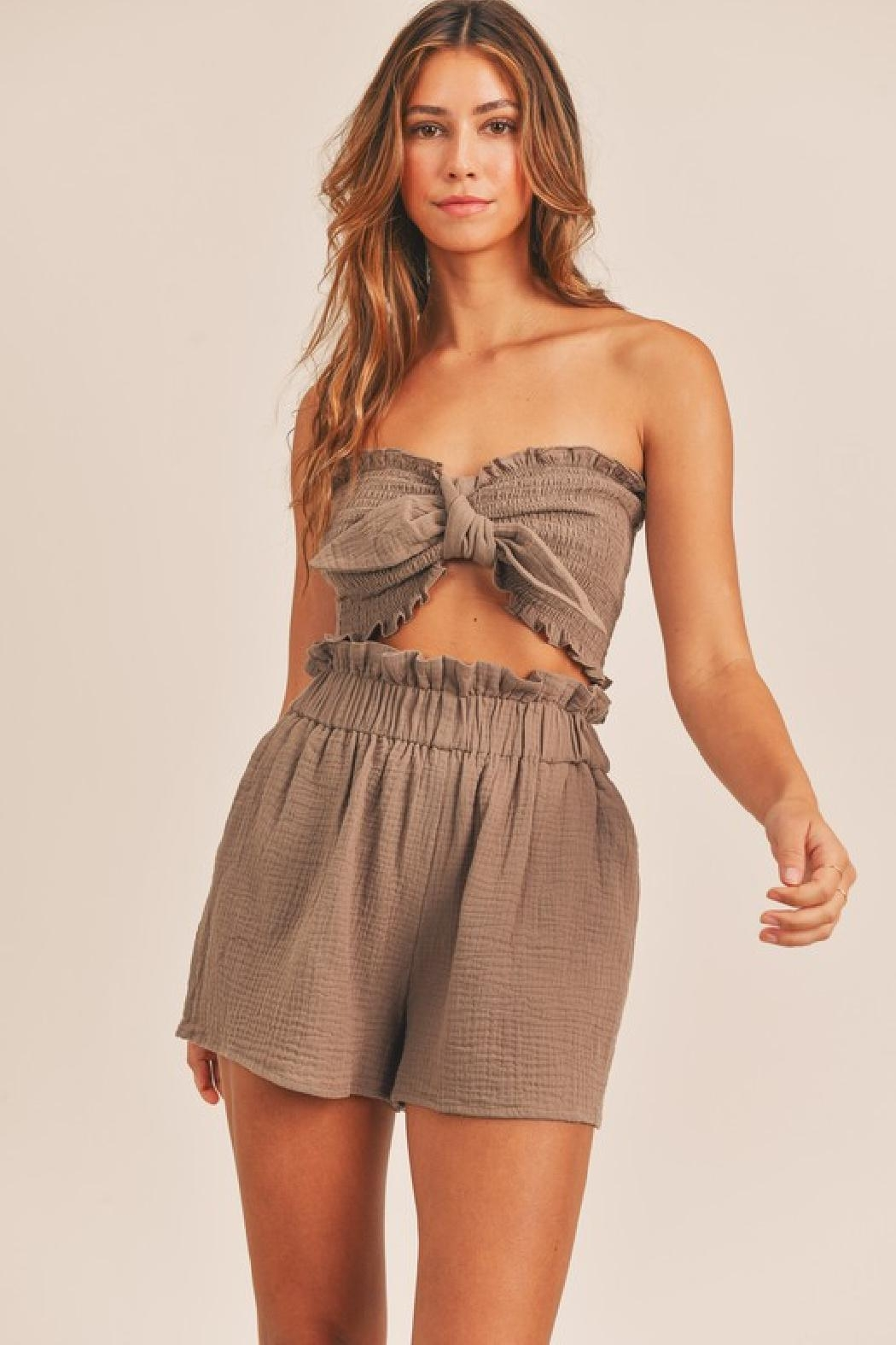 Mable Cope Pocketed Shorts - Front Full Image