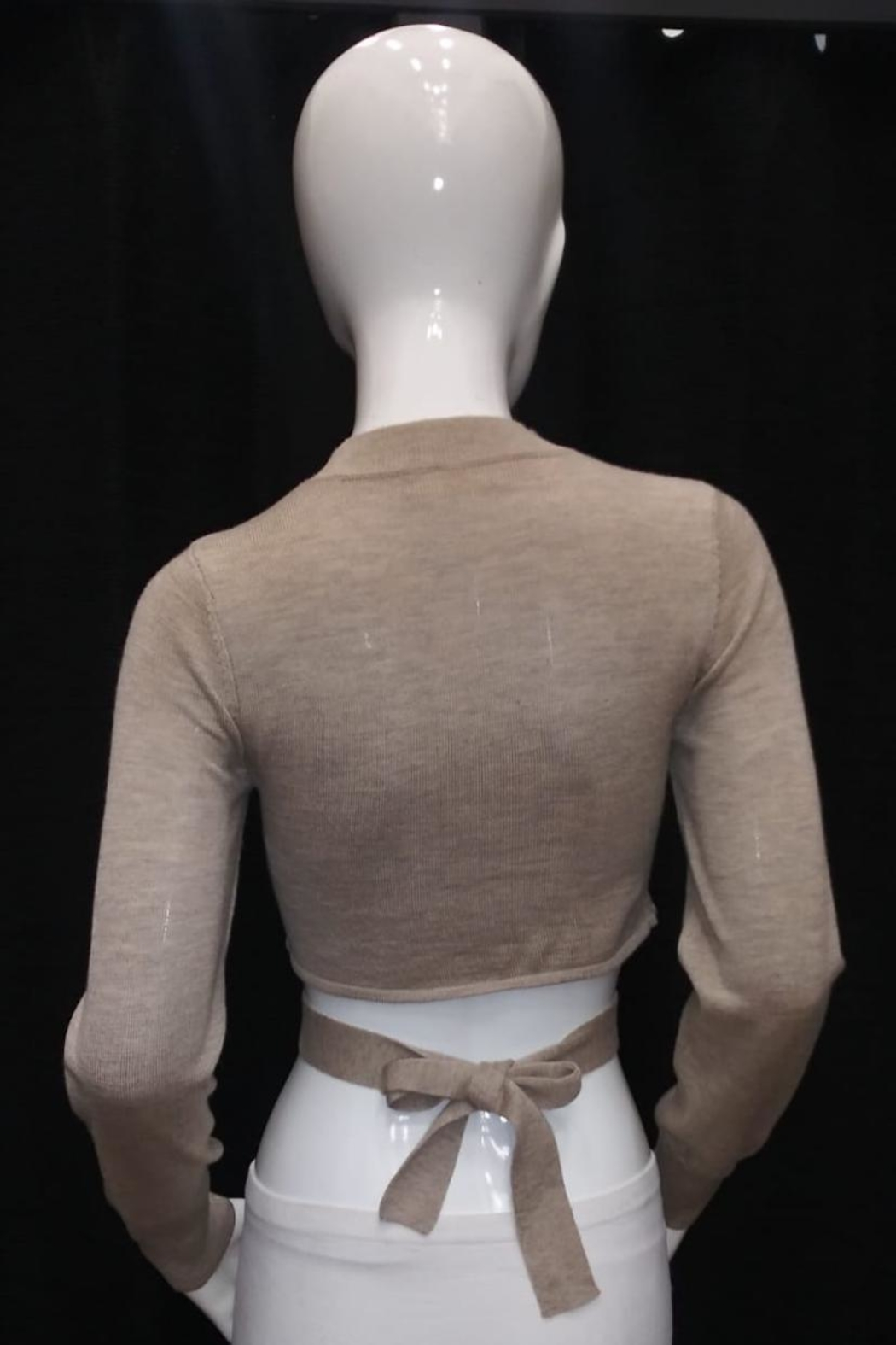 Mable Crop Knit Top - Front Full Image