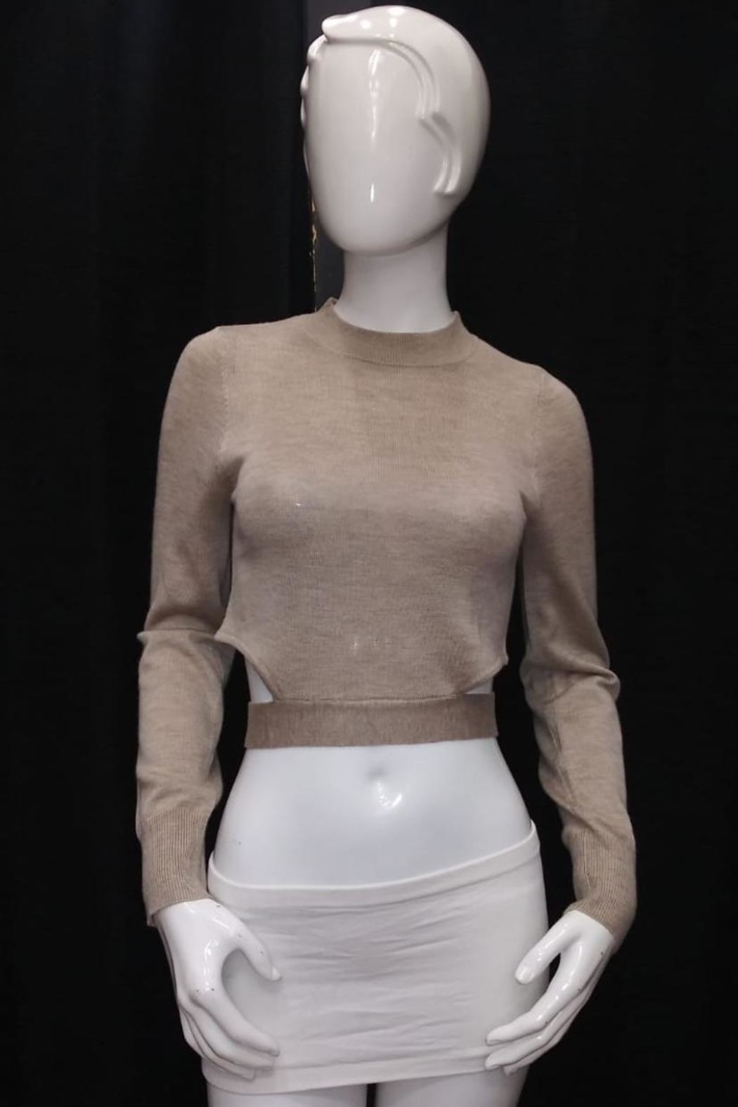 Mable Crop Knit Top - Main Image