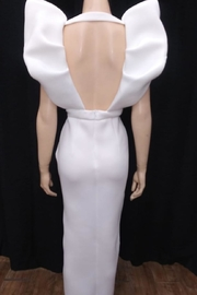 Mable Deep Neck Dress - Front full body