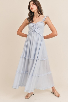 Mable Drawstring Maxi Dress - Product List Image
