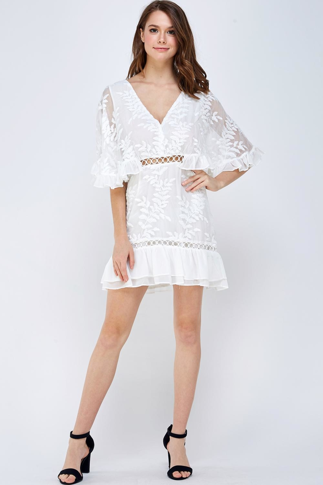 Mable Embroidered Floral Dress - Front Full Image
