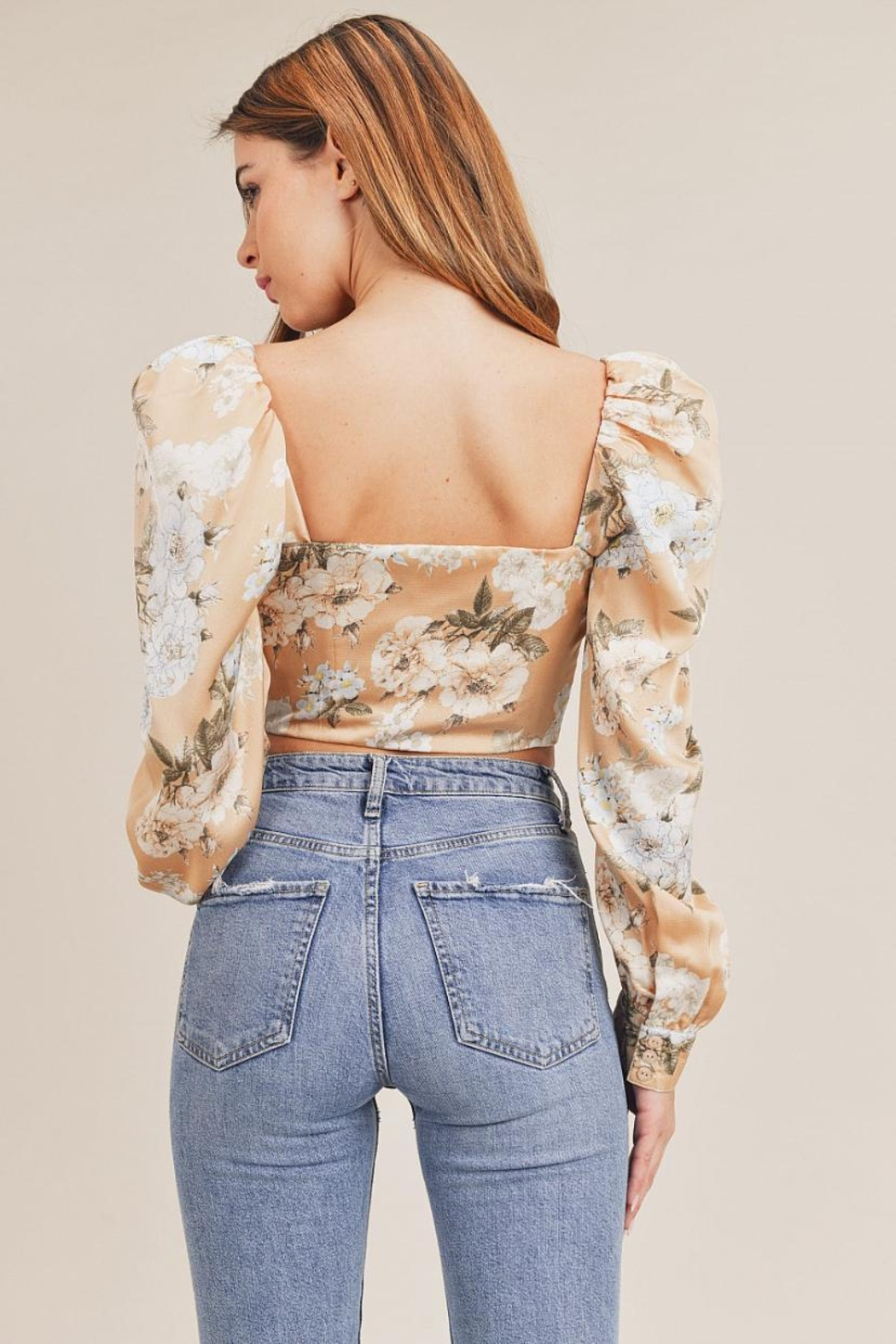 Mable Floral Crop Top - Front Full Image