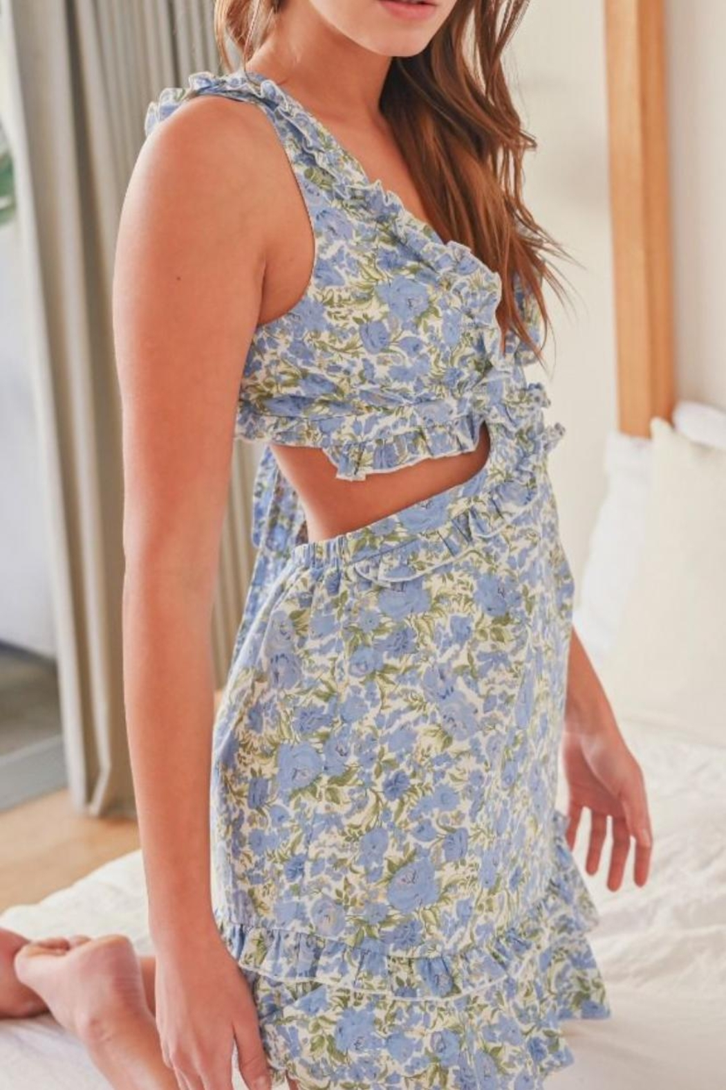 Mable Floral Cut-Out Dress - Main Image