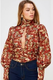 Mable Floral Mock-Neck Top - Product Mini Image