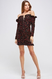 Mable Floral Shirring Dress - Front full body