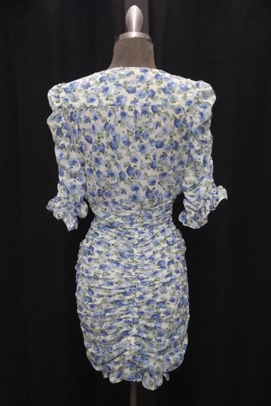 Mable Floral Shirring Dress - Front Full Image