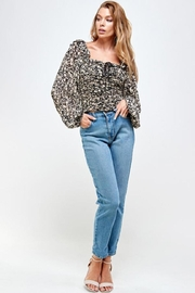 Mable Floral Shirring Top - Product Mini Image