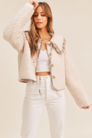 Mable Floral Trim Jacket - Product Mini Image