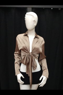 Shoptiques Product: Front-Tied Satin Top