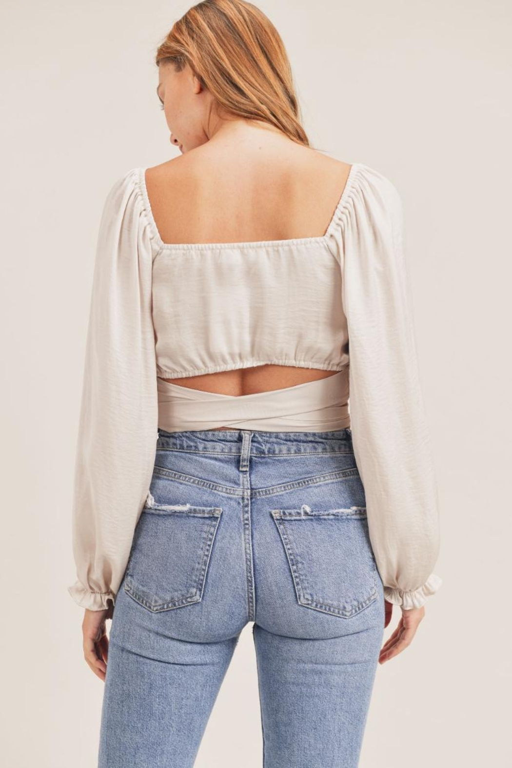 Mable Front Twist Top - Back Cropped Image