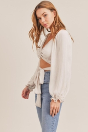 Mable Front Twist Top - Side cropped