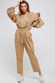 Mable Khaki Jumpsuit - Front cropped