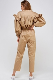 Mable Khaki Jumpsuit - Back cropped