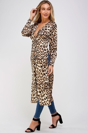 Mable Long Leopard Blouse - Side cropped